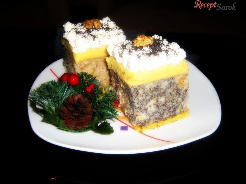 Diós-mákos guba sütemény