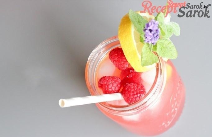 Málnás-levendulás limonádé