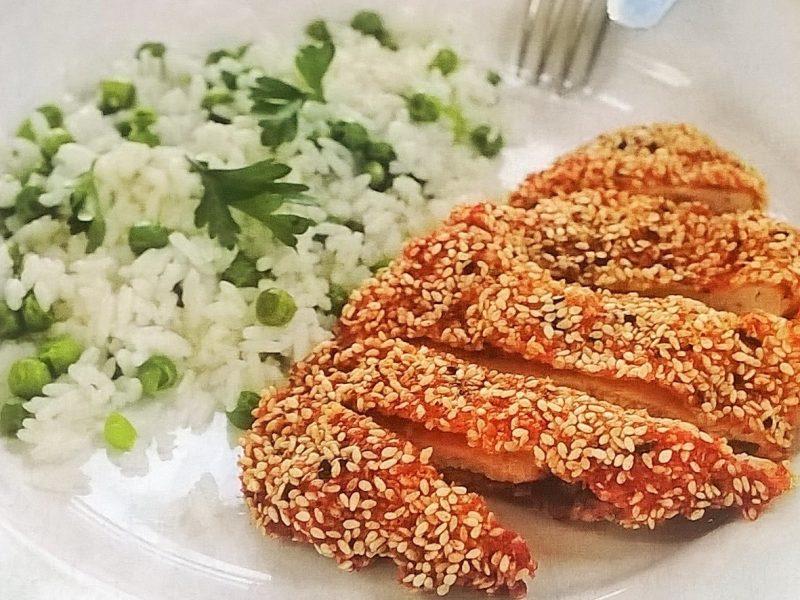Szezámmagos-chilis csirkemell