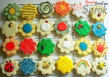 Cukormázas sütik