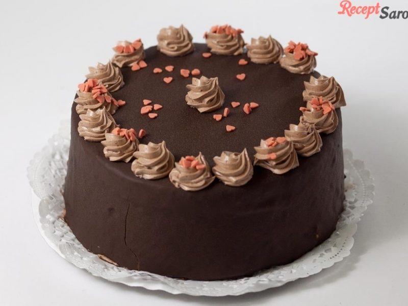 Étcsokoládé torta