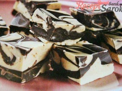 Mogyoróvajas csokoládékocka