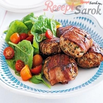 Baconos-fűszeres csirkefasírt